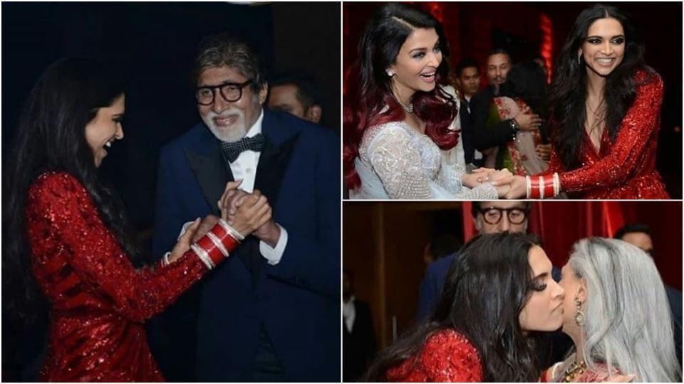 Deepika Padukone, Ranveer Singh wedding reception had them dancing with Amitabh Bachchan, Jaya and Aishwarya Rai Bachchan.