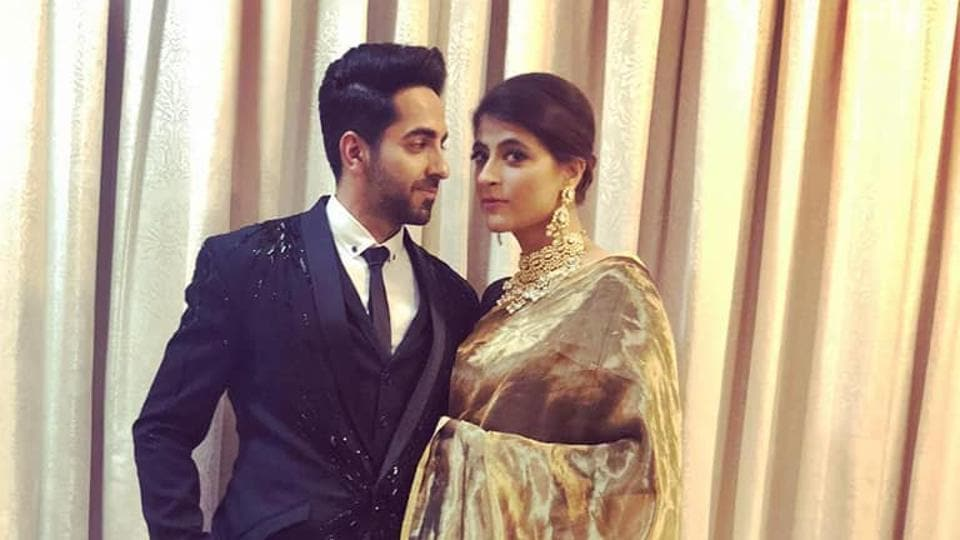 Ayushmann Khurrana with wife Tahira Kashyap at Deepika Padukone, Ranveer Singh's Mumbai reception.