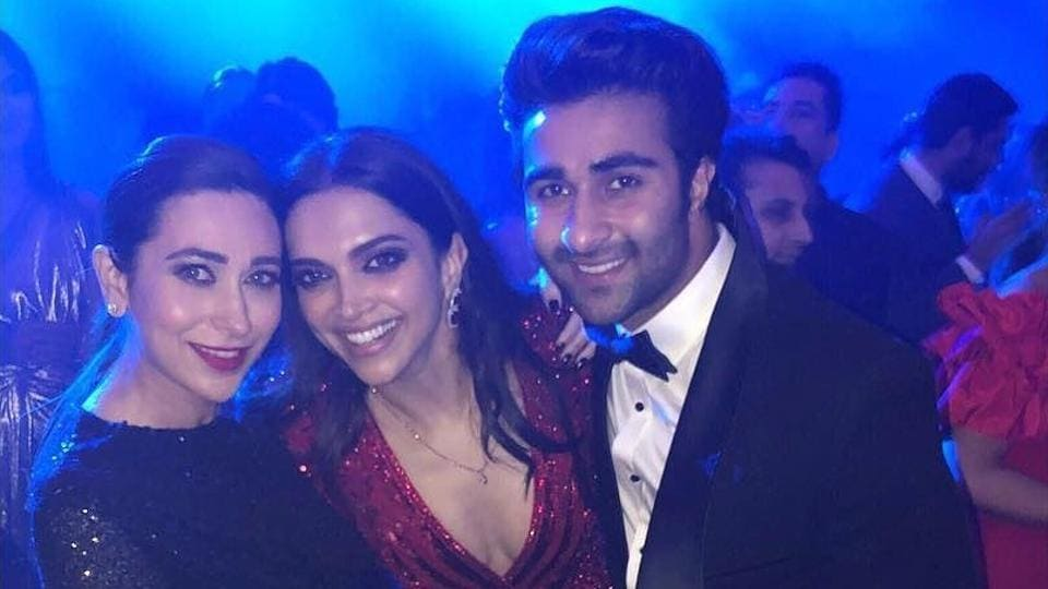Deepika with Karisma and her cousin Armaan Jain.