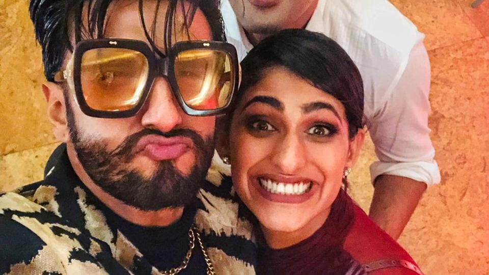 Sacred Games star Kubra Sait with Ranveer at the reception.