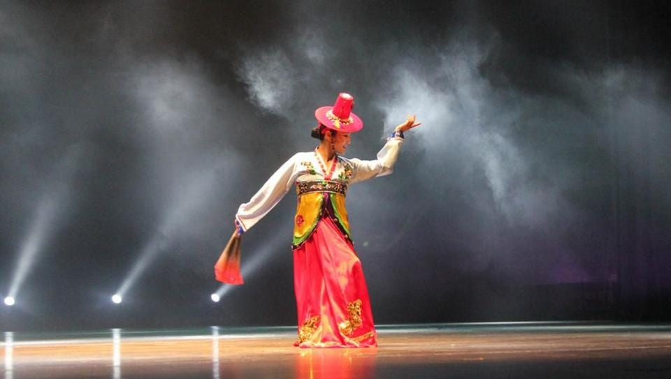 The 12th Delhi International Arts Festival witnessed colourful performances by South Korean artists who presented musical and dance performances during the opening ceremony at the Purana Quila, and the next day at Central Park, Connaught Place.  It was the first time in India that South and North Korean dance performances were presented on the same stage.