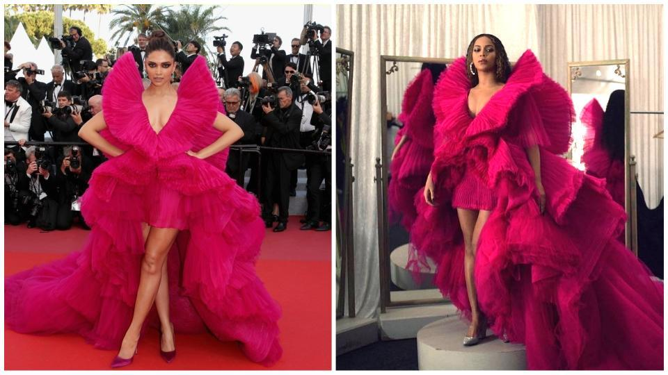 Deepika Padukone and Beyonce looked stunning in their Ashi Studios creations.