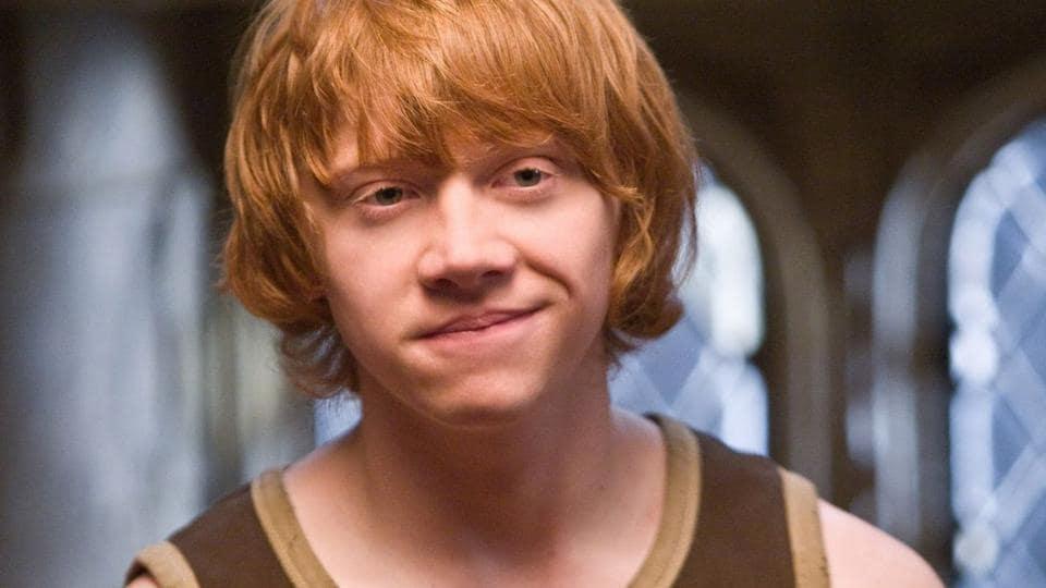 Rupert Grint as Ron Weasley in Harry Potter.