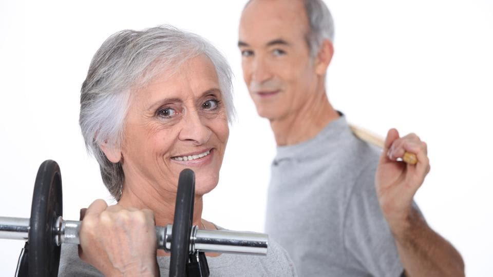 Old people exercise,Old people fitness,Old people working out