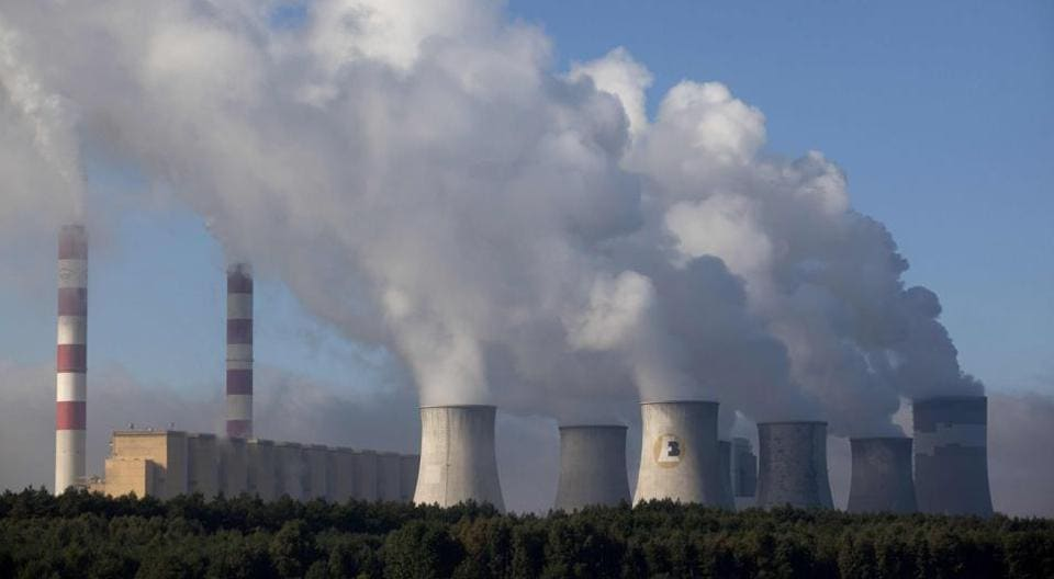 A picture taken on September 27, 2011 shows a view of the Belchatow power plant in Belchatow, near Lodz central Poland. In Poland, however, coal is a way of life with no signs of changing.