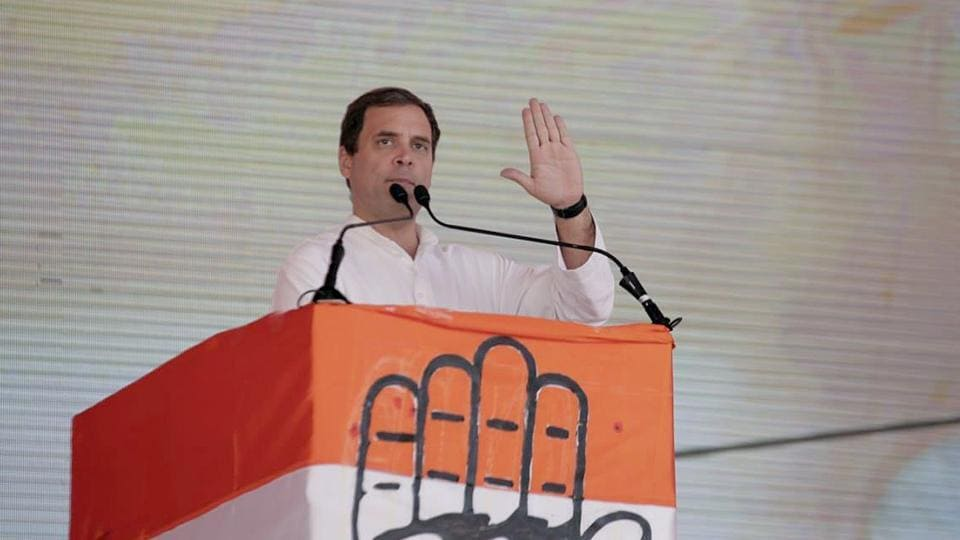"Congress president Rahul Gandhi on Monday sharpened his attack on Prime Minister Narendra Modi, Telangana Rashtra Samithi and All India Majlis-e-Ittehadul Muslimeen's chief Asaduddin Owaisi ahead of the December 7 assembly election in Telangana. ""Great people of Telangana, Modi, KCR & Owaisi are one. They speak in twisted tongues. Do not be fooled by them!"" Gandhi tweeted ahead of two rallies in the southern state. (HT Archive)"