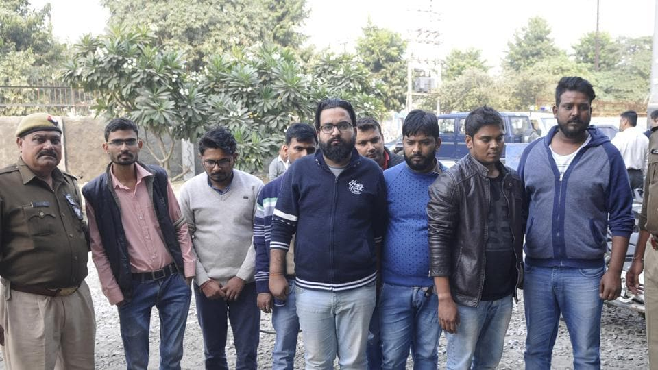 Police in Noida Phase 3  arrested eight people who were allegedly running a fake call centre in Noida, on Wednesday, November 28, 2018.