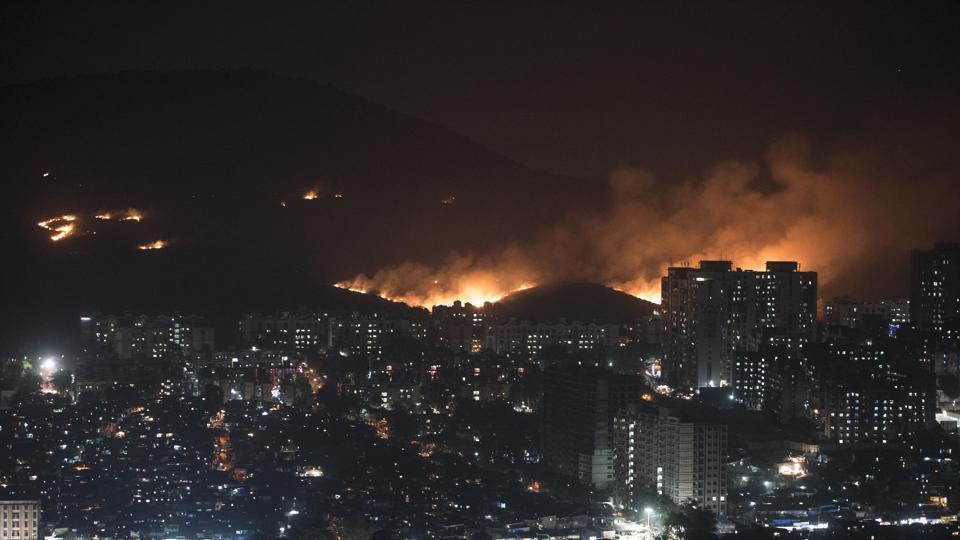 aarey colony fire,Infinity IT Park fire,mumbai fire