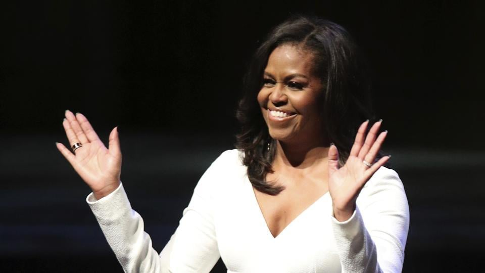 Michelle Obama confident progress can't be stopped, urges girls to aim high