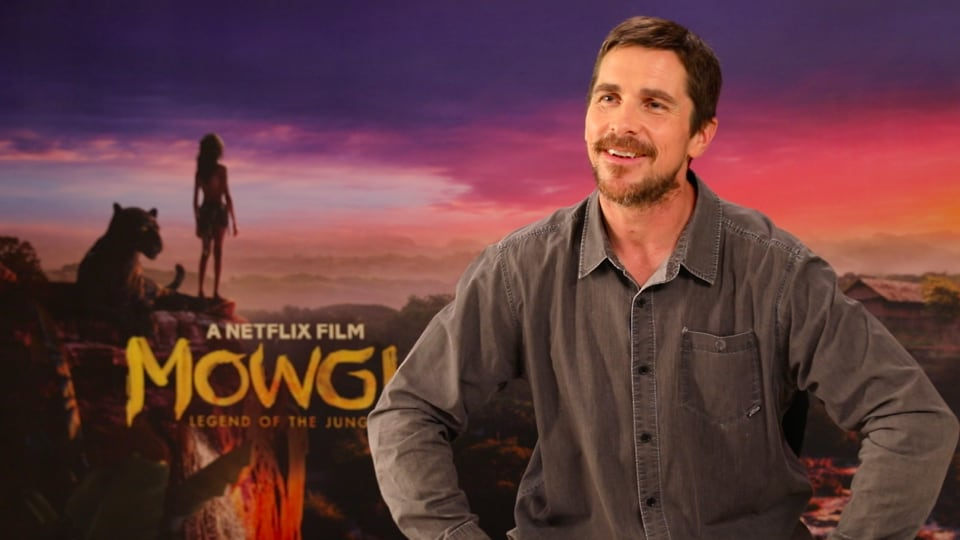 Christian Bale promotes Netflix's Mowgli: Legend of the Jungle in Mumbai.