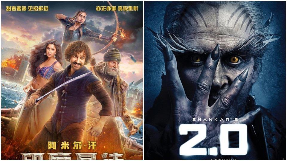 Rajinikanth,2.0,Aamir Khan Thugs of Hindostan