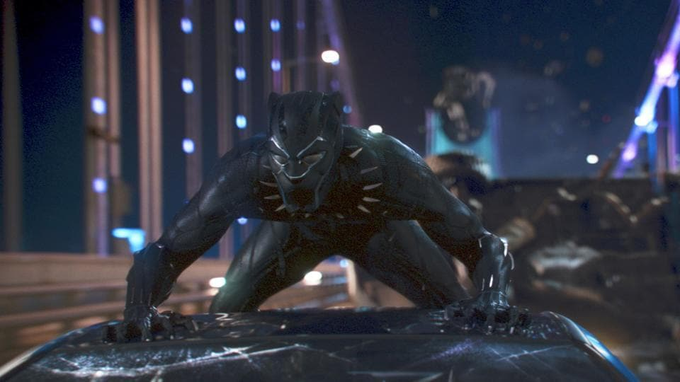 This image released by Disney shows a scene from Marvel Studios' Black Panther. The film is among the American Film Institute's top 10 films of the year.
