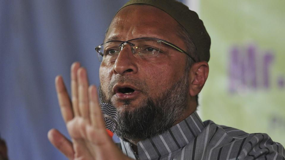 President of the All India Majlis-e-Ittehadul Muslimeen and lawmaker Asaduddin Owaisi addressed the media in Hyderabad, India, Wednesday, December 5, 2018. Elections in Telangana will be held on December 7.