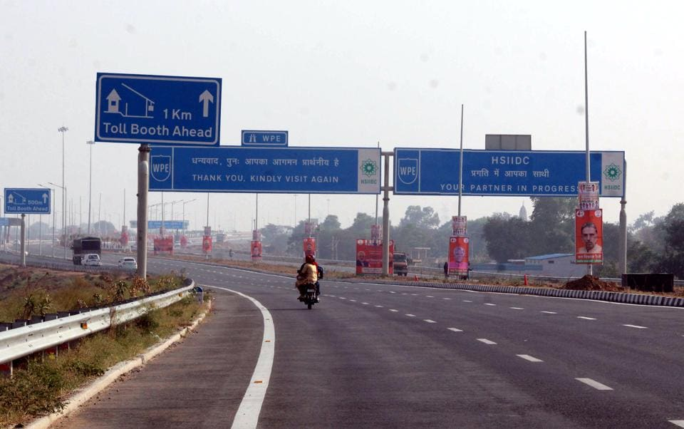 KMP expressway,KMP e-way,Kherki Daula toll plaza