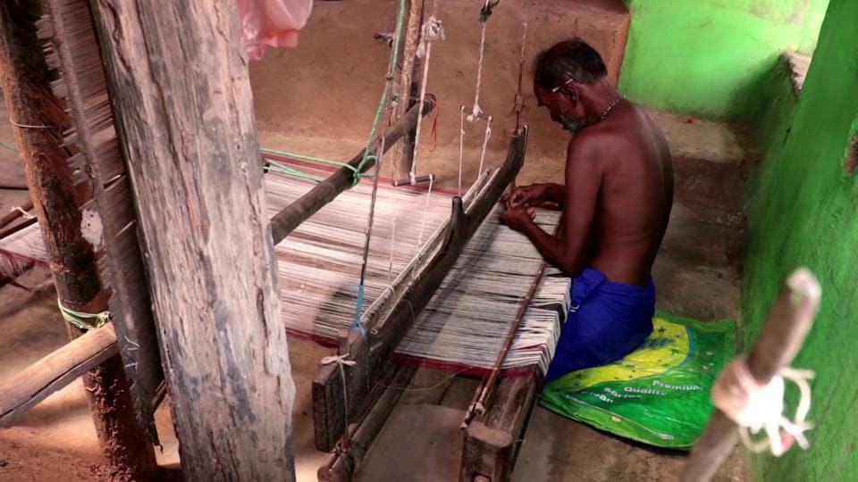 A still from the 'Kotpad Weaving' documentary.