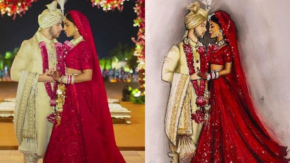 Priyanka Chopra, Nick Jonas wedding illustrations are as beautiful