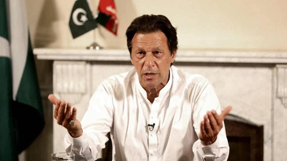 """Prime Minister Imran Khan has accused the US of """"pushing Pakistan away"""""""