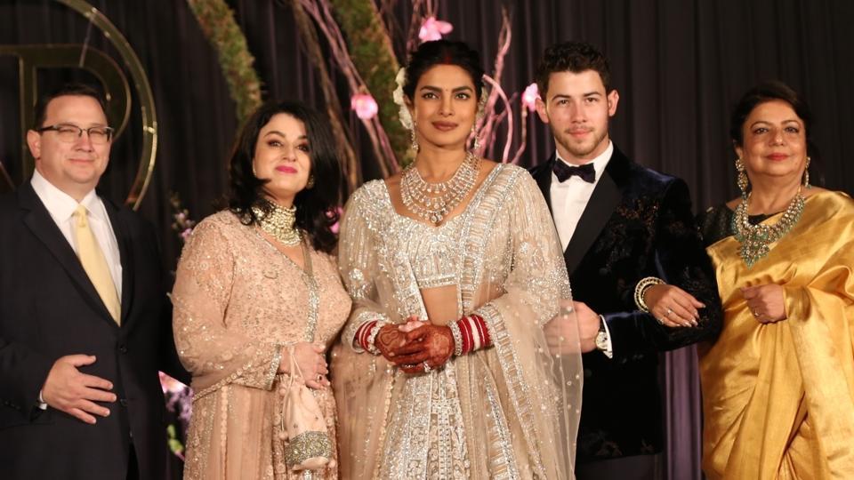 Madhu Chopra,Priyanka Chopra,Nick Jonas