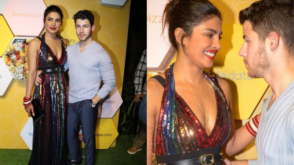 Priyanka Chopra,Nick Jonas,Bumble app launch party