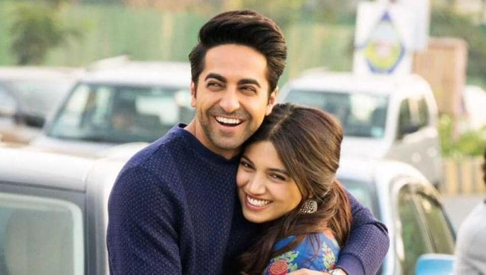 Image result for bhumi with ayushmann khurrana