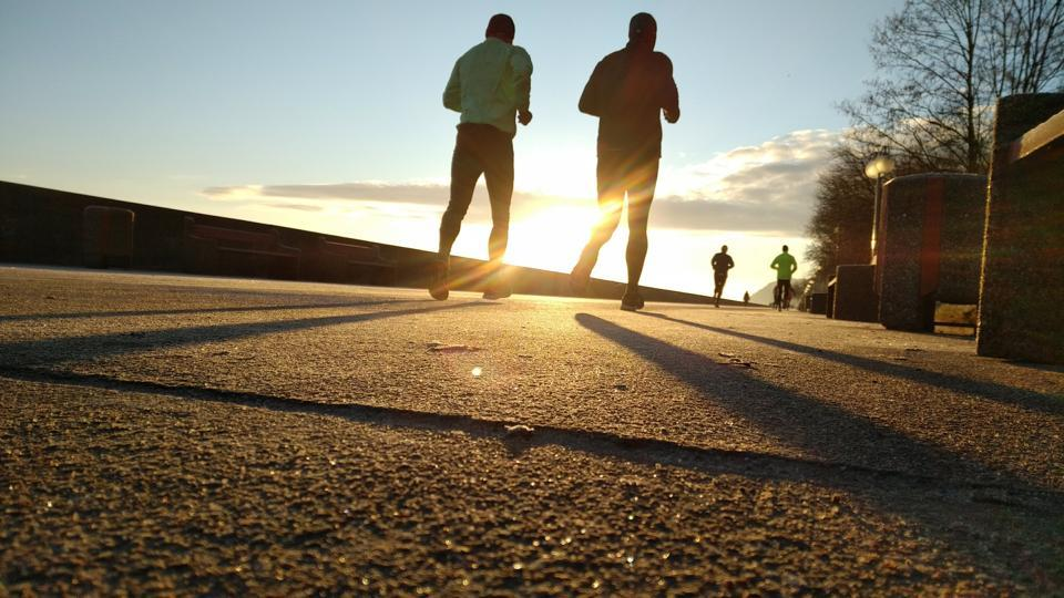 Exercise-induced cardiac events occur during marathons, especially in older men.