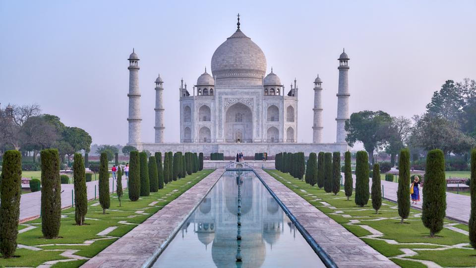 Indians make up the majority of the Taj Mahal's 10,000-15,000 average daily visitors.