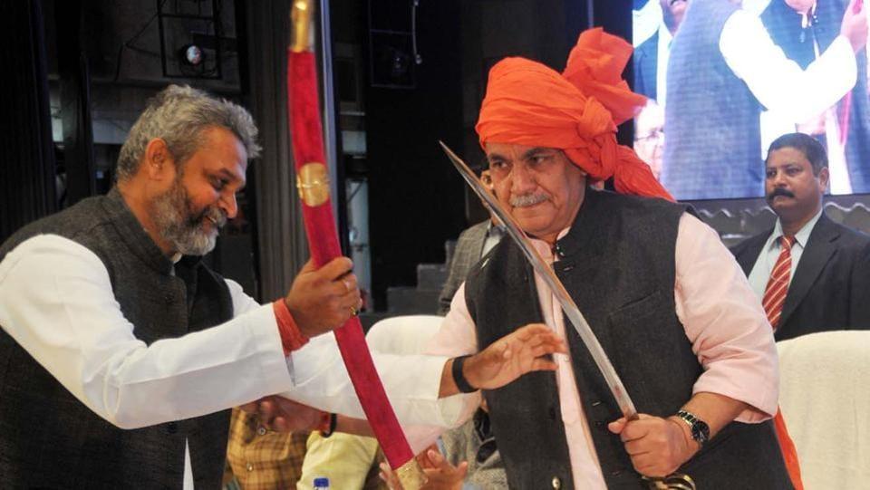 Union minister Manoj Sinha at 'Ghazipur Samagam' organised in Lucknow on Sunday