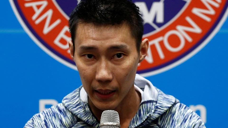 Malaysia's badminton player Lee Chong Wei speaks during a news conference in Kuala Lumpur.