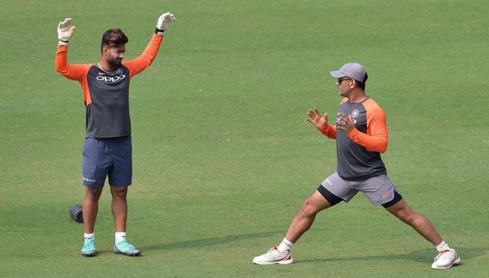 Rishabh Pant has credited MSDhoni (right) for helping him evolve as a wicket-keeper and player.