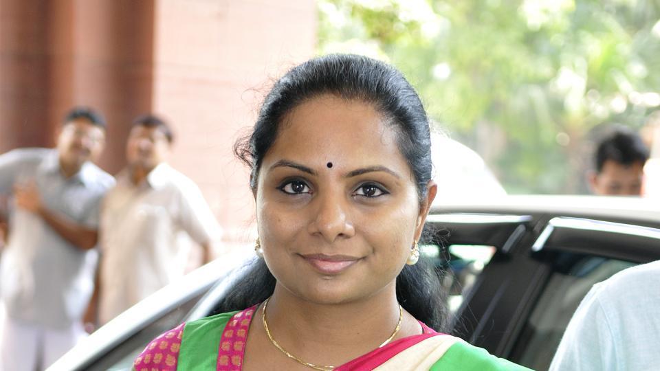 Kavitha, TRS MP and daughter of Telangana Chief Minister K Chandrasekhar Rao.