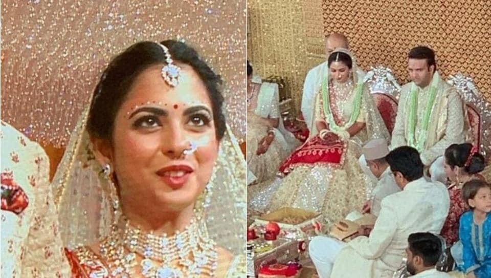 Isha Ambani Wedding Highlights Check Out First Pics Of Bride And