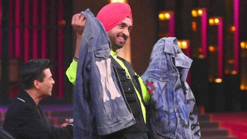 Diljit Dosanjh won the fashion quiz on Koffee with Karan 6, where he and rapper Badshah had to identify clothing from the designer brands, including, Gucci, Calvin Klein, Prada and Balenciaga. (Instagram)