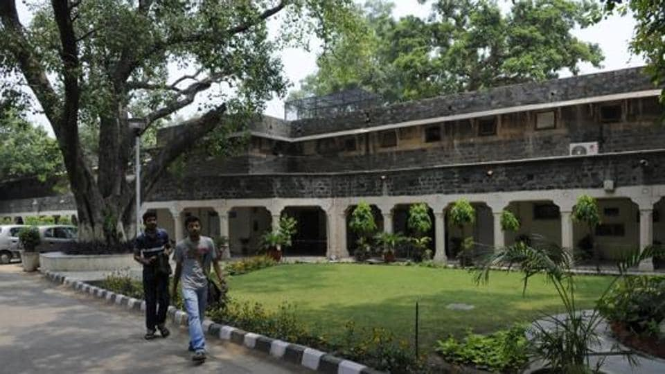 The Ambedkar University at Kashmiri Gate in New Delhi