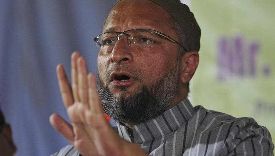 President of the All India Majlis-e-Ittehadul Muslimeen and lawmaker Asaduddin Owaisi