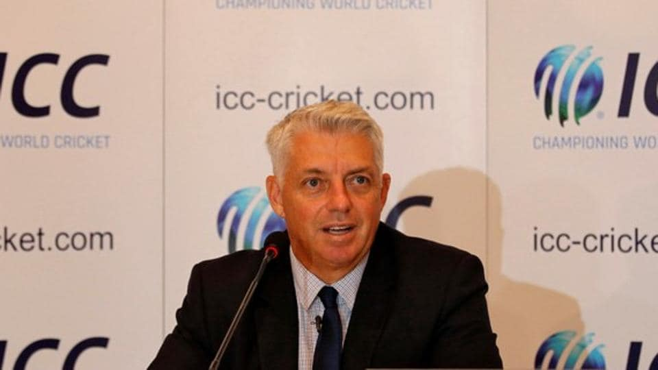 Dave Richardson, chief executive of International Cricket Council (ICC), speaks during a news conference.