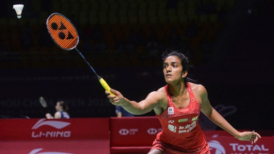 File photo of PV Sindhu in action.