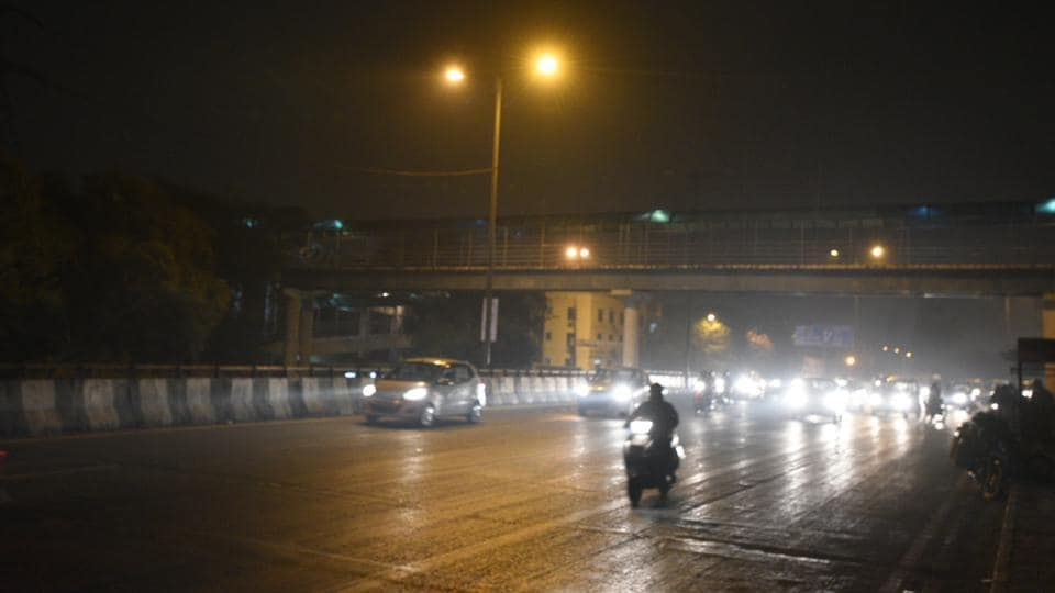 Many areas of Delhi received light rain on Wednesday evening.