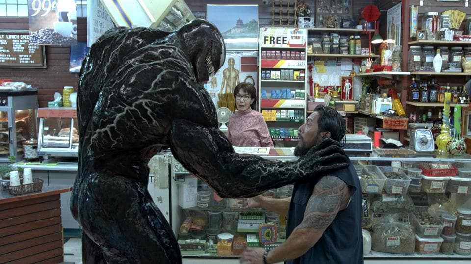 This image released by Sony Pictures shows a scene from Venom.