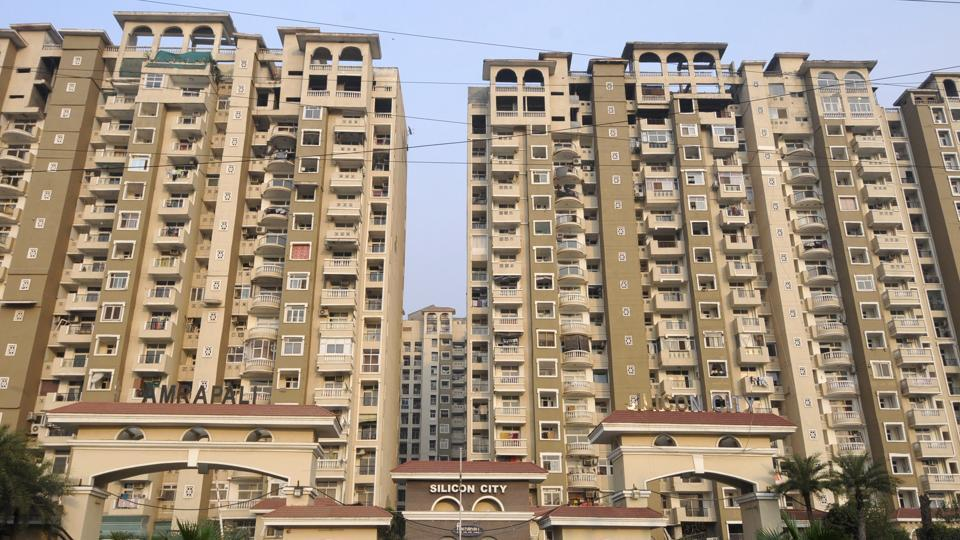 A view of Amrapali Silicon City in Noida Sector 76.  The SC has  sought an affidavit Amrapali Group's CMDAnil  Sharma and the two directors to declare that they do not have any more money of homebuyers lying with them.