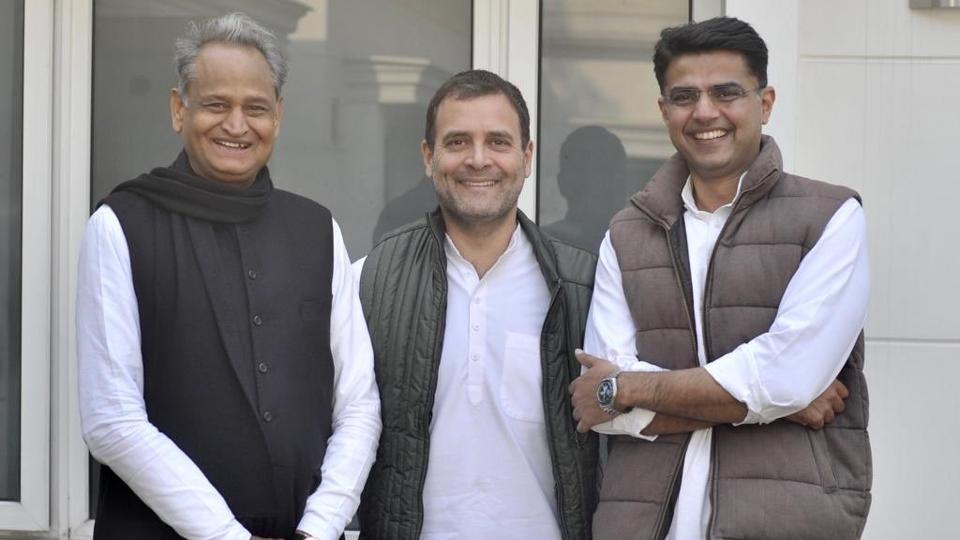 """Congress president Rahul Gandhi tweeted this photo on Friday with the caption, """"The united colours of Rajasthan!"""""""