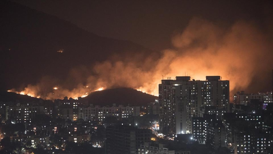 On December 4, a massive fire broke out on a private plot near Aarey Milk Colony near Goregaon. It took 14 hours for the fire brigade to douse the fire completely