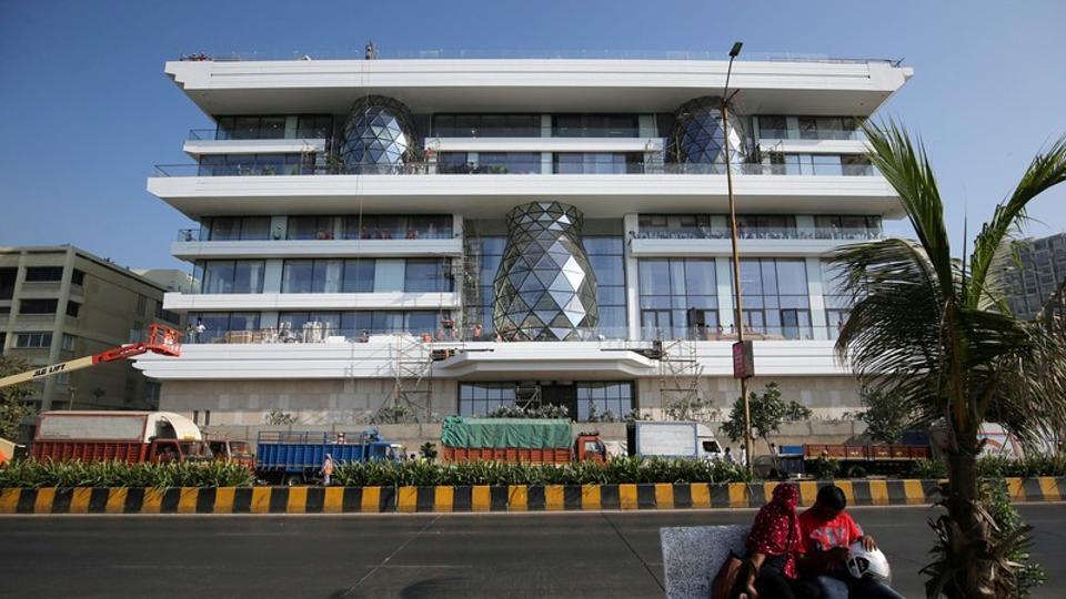 Gulita, a bungalow which according to local media will be the marital home of Isha Ambani, daughter of the Reliance Industries chairman Mukesh Ambani, is seen in Mumbai.