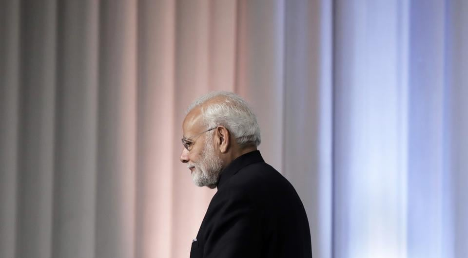 Narendra Modi in Japan on Oct. 29, 2018. Modi's trip to Japan in 2016 -- which came immediately after he eliminated 86 per cent of India's currency, sending millions into bank queues to exchange cash -- led to accusations by the opposition that he was traveling the world while ordinary Indians were struggling.