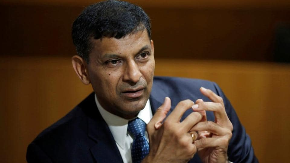 India's former Reserve Bank of India (RBI) governor Raghuram Rajan, gestures during an interview with Reuters in New Delhi on September 7.