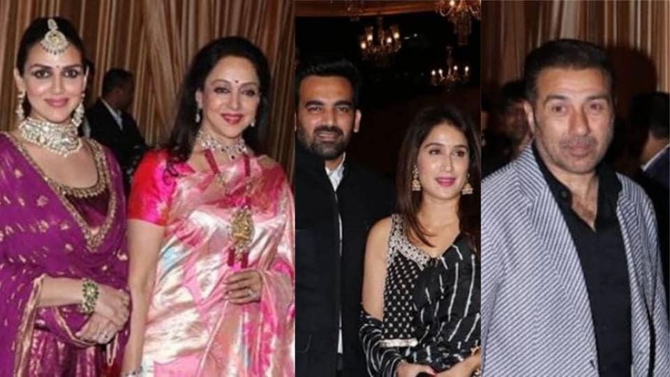 The Deols at Isha Ambani's reception in Mumbai.