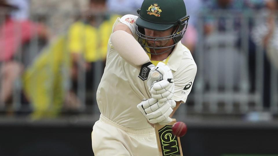 Australia's Travis Head bats during play in the second cricket test between Australia and India in Perth. (AP)