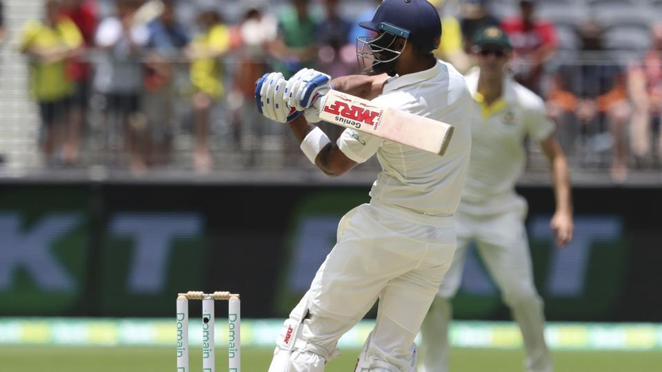 India's Virat Kohli bats during play in the second cricket test between Australia and India in Perth, Australia, Sunday, Dec. 16, 2018. (AP Photo/Trevor Collens) (AP)