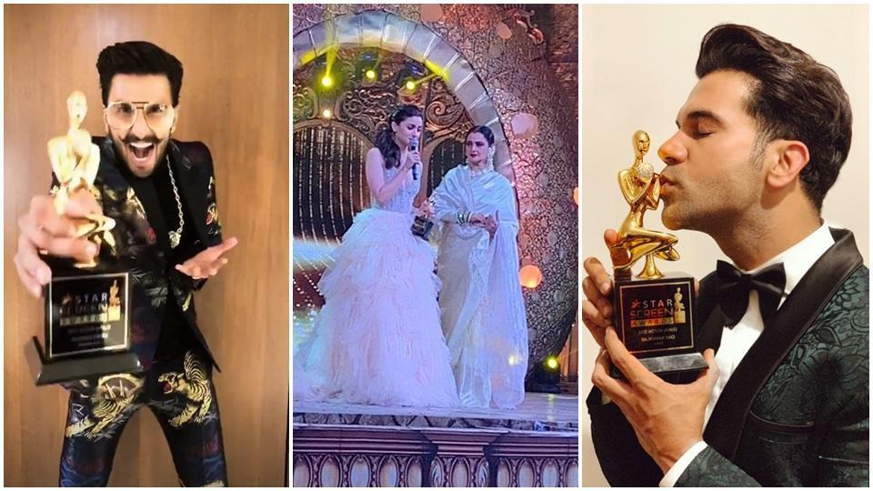Star Screen Awards 2018 complete winners list: Alia Bhatt, Rajkummar Rao and Ranveer Singh are the big winners of the night.