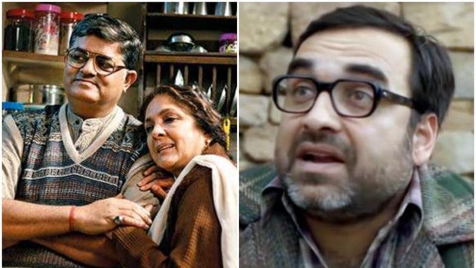 (Left) Gajraj Rao and Neena Gupta in Badhaai Ho and PankajTripathi in Stree.