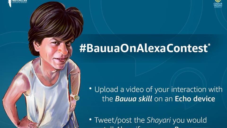 SRK is promoting his film, Zero, with Alexa.